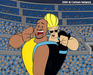 Johnny Bravo Artwork Limited Edition Hand-Painted Cel Johnny and Shaq