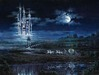 Rodel Gonzalez Limited Edition Giclee on Canvas Moonlit Castle