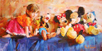 Disney Fine Art Limited Edition Giclee on Canvas Party of Five