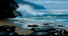 Peter Ellenshaw Limited Edition Giclee on Canvas Seascape (Anniversary Edition)