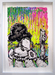 Tom Everhart Original Acrylic on Paper Coconut Bouffant (Original) - Framed