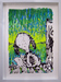 Tom Everhart Original Acrylic on Paper Snoopy Suite - Woodstock (Original) - Framed
