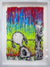 Tom Everhart Original Acrylic on Paper Snoopy Suite - Snoopy on the Dock (Original) - Framed