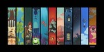 Wall-E Pixar Artwork Limited Edition Giclee on Canvas The Pixar Storyline (Petite)