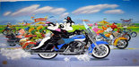 Superhero Artwork Limited Edition Hand-Painted Cel The Ride - Harley Davidson Road King Classic