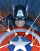 Alex Ross Comic Art Limited Edition Giclee on Canvas Visions: Captain America