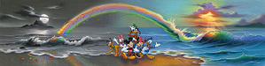 Jim Warren Limited Edition Giclee on Canvas Walt's Wonderful World of Color