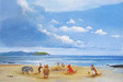Peter Ellenshaw Limited Edition Giclee on Canvas Pooh and Friends at the Seaside