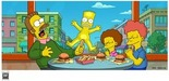 20th Century Fox Artwork Limited Edition Giclee on Paper Bart on Glass