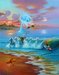Jim Warren Limited Edition Giclee on Canvas Commotion in the Ocean (GW)