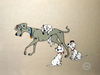 101 Dalmatians Art Limited Edition Sericel Perdita & Pups