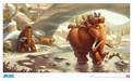 20th Century Fox Artwork Limited Edition Giclee on Paper Ellie with Kids