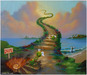 Jim Warren Limited Edition Giclee on Canvas Helluva Party (AP)