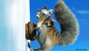 20th Century Fox Artwork Limited Edition Giclee on Paper Scrat with Acorn