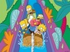 Simpsons Artwork Limited Edition Giclee on Paper Itchy and Scratchy Land -