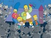 Simpsons Artwork Limited Edition Giclee on Paper Itchy & Scratchy Land -