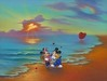 Jim Warren Limited Edition Giclee on Canvas Mickey & Minnie's Romantic Day