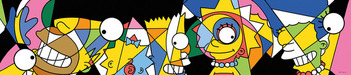 Simpsons Artwork Limited Edition Giclee on Canvas Pop Apart Simpsons