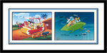 Flintstones Artwork Limited Edition Hand-Painted Cel Time Travelers (Prism Art) - SOLD OUT