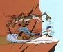 Wile E. Coyote Artwork by Chuck Jones Limited Edition Hand-Painted Cel Salt & Pepper