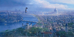 Peter Ellenshaw Limited Edition Giclee on Canvas Practically Perfect